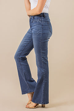 Boot Cut Jeans - Medium Wash Denim (Side)