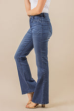 Load image into Gallery viewer, Boot Cut Jeans - Medium Wash Denim (Side)