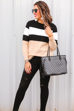 Load image into Gallery viewer, Grant Color Block Sweater (Full)