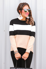 Load image into Gallery viewer, Grant Color Block Sweater (Front)