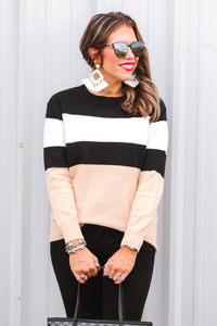 Grant Color Block Sweater (Front)