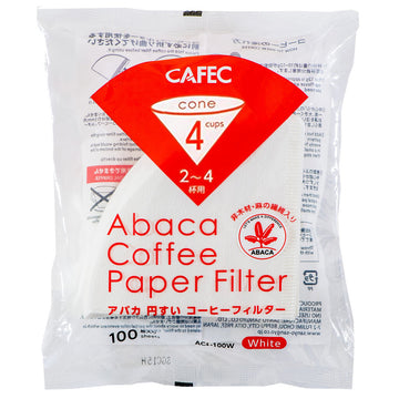 2-4 Cup Cafec Abaca Filter Paper 100 Pack