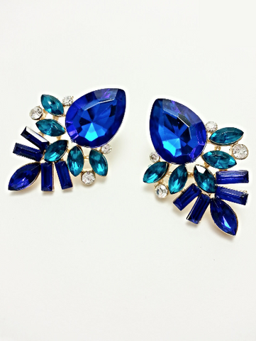 Statement Earrings Sapphire Blue