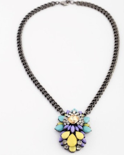 Statement Necklace Flower Pendant - 2COLORS