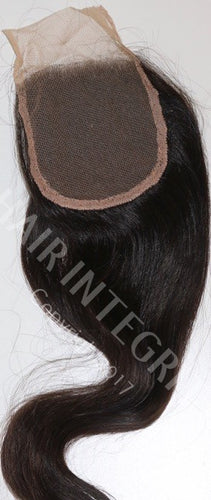 Virgin remy Lace front Indian Hair Closure. Color is #2 Brown