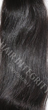 Color 1B black raw unprocessed virgin Indian hair. Straight hair