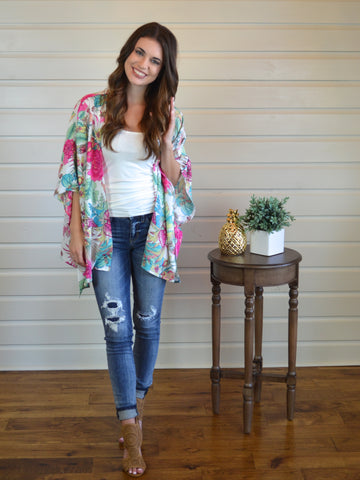 Tropical Vibes Kimono - The Posh Pineapple Boutique