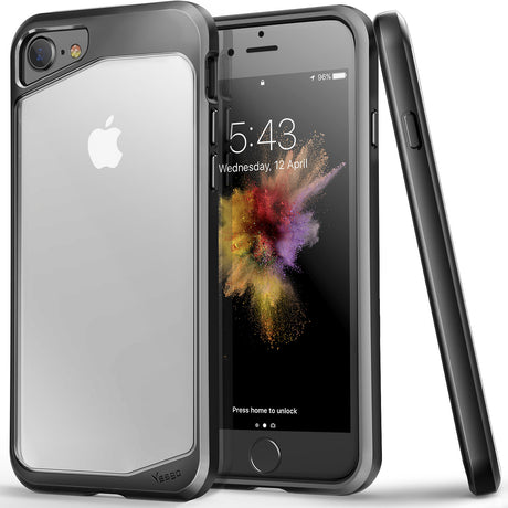 iPhone 7 PC+TPU Transparent bumper shockproof Protective Case.