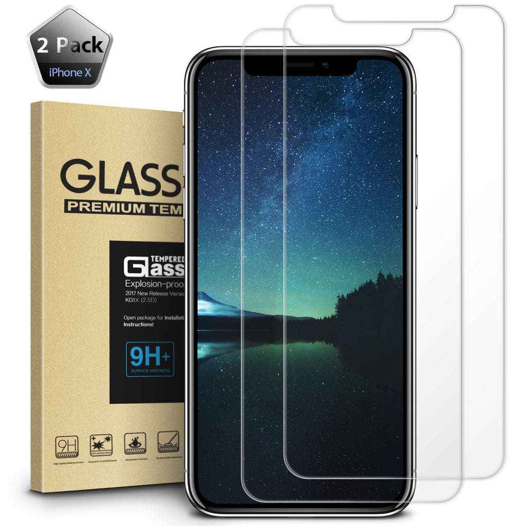 iPhone X Screen Protector Shockproof Anti-Scratch iPhone 10 Tempered Glass