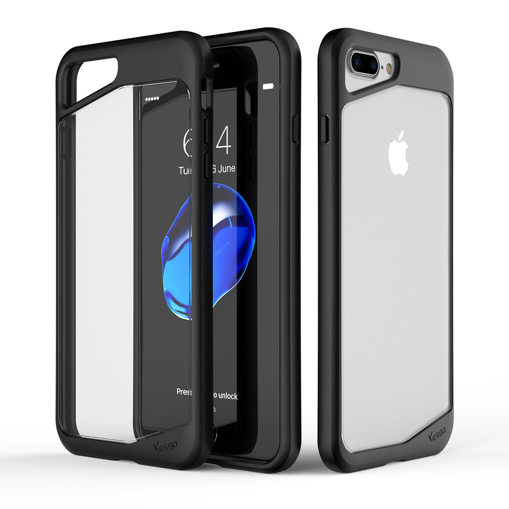 iPhone 7 plus PC+TPU Transparent bumper shockproof Protective Case. - Yesgo