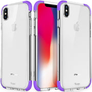 iPhone X case, Crystal Shock-Absorption and Anti-Scratch Slim Case