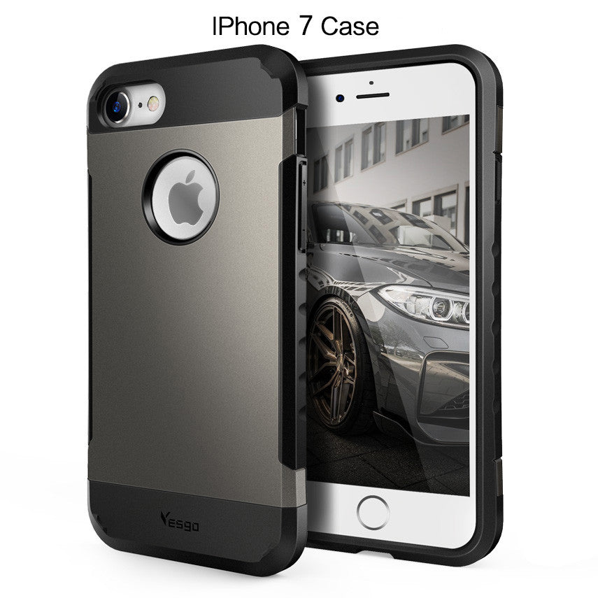 iPhone 7 Case Shockproof -Gunmetal - Yesgo