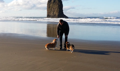 Bruce dogs beach oregon