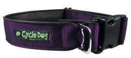 Y - Collar - MED, RegWidth, Rubber, Plastic Buckle - Solid Purple