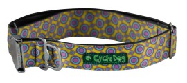 Y - Collar - LG, RegWidth, Rubber, Plastic Buckle - Yellow Space Dots