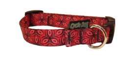 Y - Collar - SMALL, Skinny Width,  Ecoweave - Red Tri