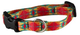 Collar - SMALL, Ecoweave Skinny - Red Orange Kaleidoscope