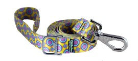 Leash - Ecoweave - Yellow Purple Space Dots