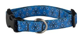Collar - SMALL, Ecoweave Skinny - Blue Tri