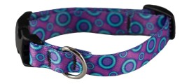 Collar - SMALL Ecoweave - Purple Blue Space Dots