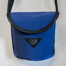 Dog poop waste bag holder carrier - blue