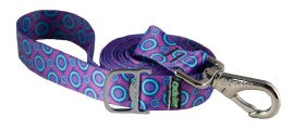 Leash - Ecoweave - Purple Space Dots