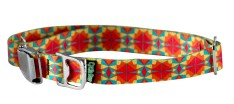 Collar - LG, Ecoweave - Red Orange Kaleidoscope