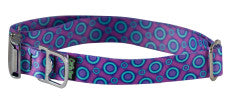 Collar - MED, Ecoweave - Purple Blue Space Dots