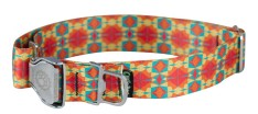 Y - Collar - LG, Wide Width, Ecoweave - Red Orange Kaleidoscope