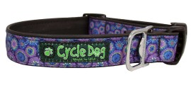 Collar - MED - Purple Blue Tie Dye