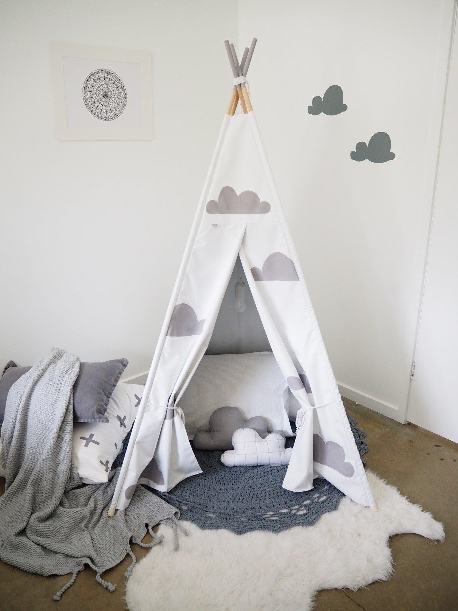 Billy Button Australia Hand painted Teepees