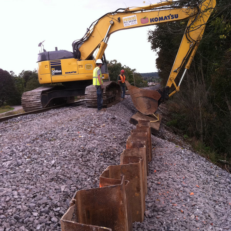 Steel Sheet Piling Project - Shore Tec Piling