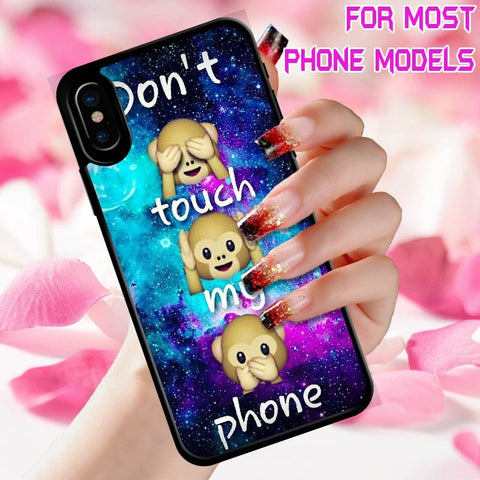 Monkey Emoji Painted Anime Art Pattern Fashion Phone Case Plastic Hard Back Cover All Popular Phone Models IPhone 6S 7 8 Plus/iPhone X/iPhone 5c/Samsung J1/Galaxy Ace 4/K10/SONY Z2/Galaxy S3/Samsung Galaxy S7 Plus/G2/Sony Xperia XA