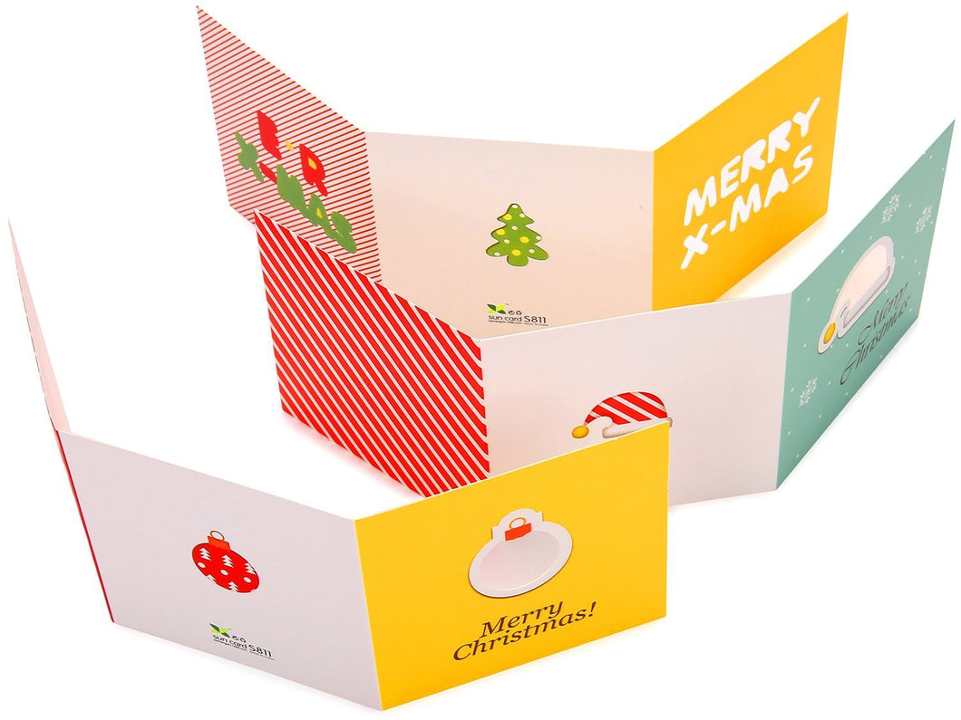 48 Pcs Merry Christmas Greeting Cards Envelopes 12 Designs Xmas