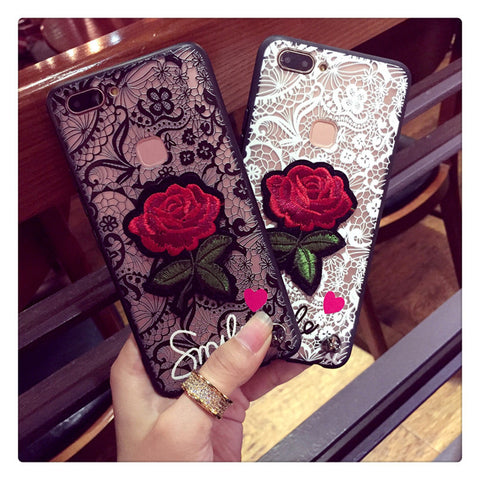 Rose Lace Embroidery for Samsung