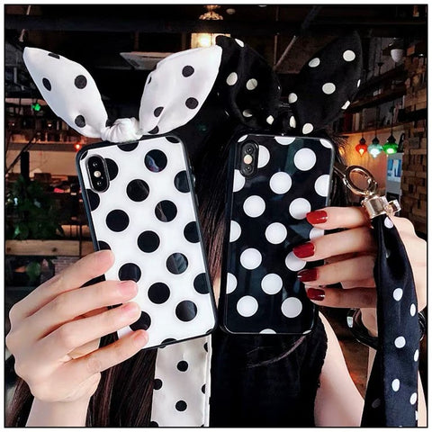 Dotted Bowknot Phone Case for iphone