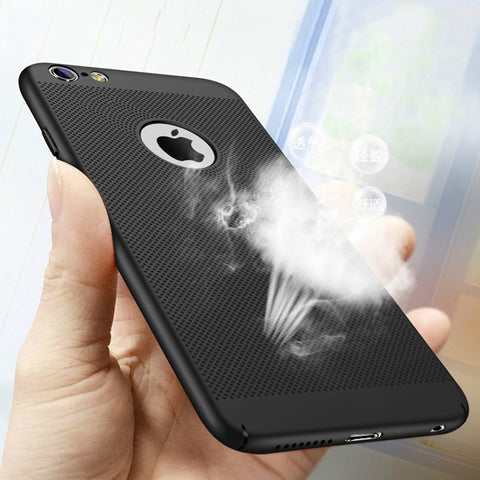 Hollow Heat Dissipation Hard PC for iPhone X 10 8 7 6 XS max XR 6S Plus 5S SE Phone Case