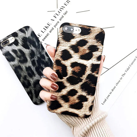 Fashion Hot Sale Tiger Leopard Print Panther Soft Phone Case For iPhone 7 plus 6S 6S plus 8 8plus X XS Mobile phone shell case