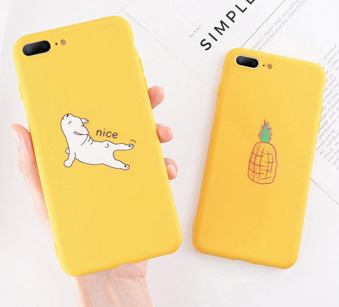 Funny Cartoon Giraffe Phone Case For iPhone TPU Silicone Soft Cases