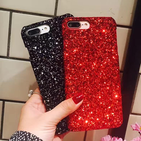 Luxury Bling Glitter Shining Flash Powder Case For iPhone