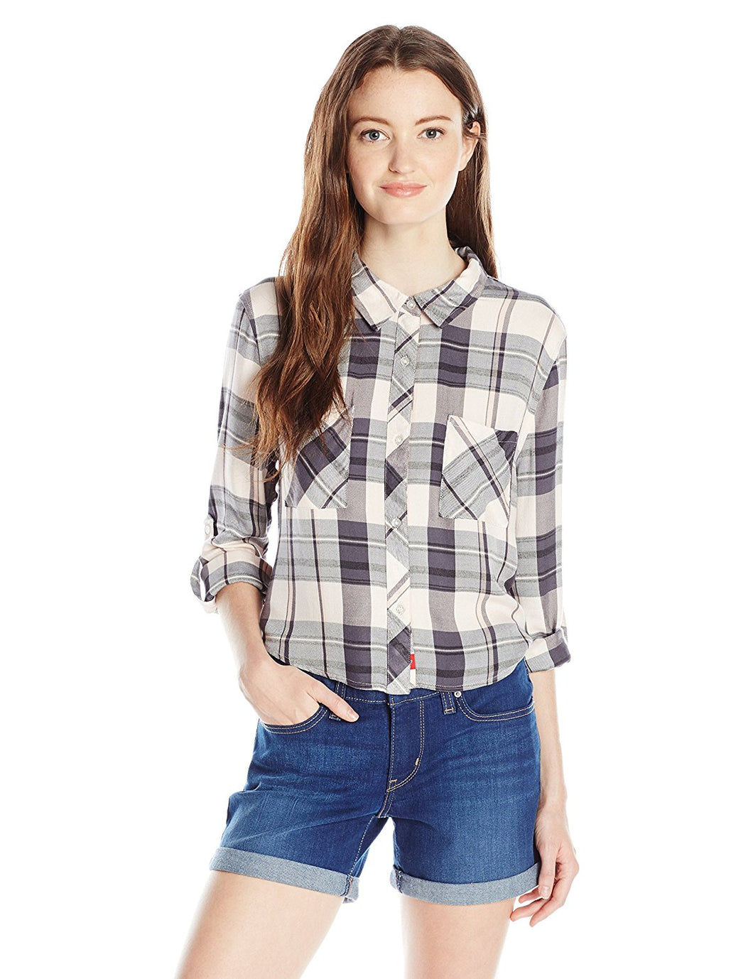 Plaid Crop Top - Pink