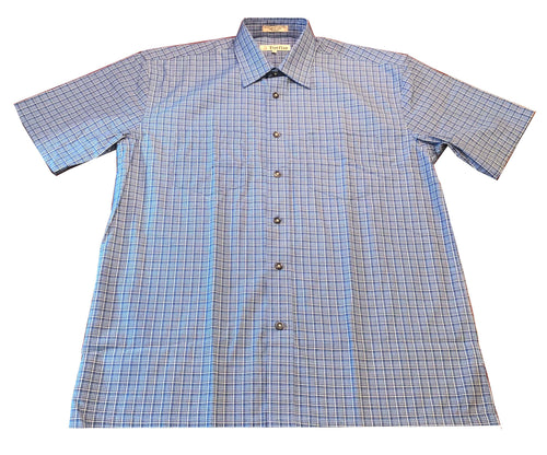 Short Sleeve Plaid - Blue