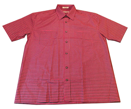 Short Sleeve Plaid - Red