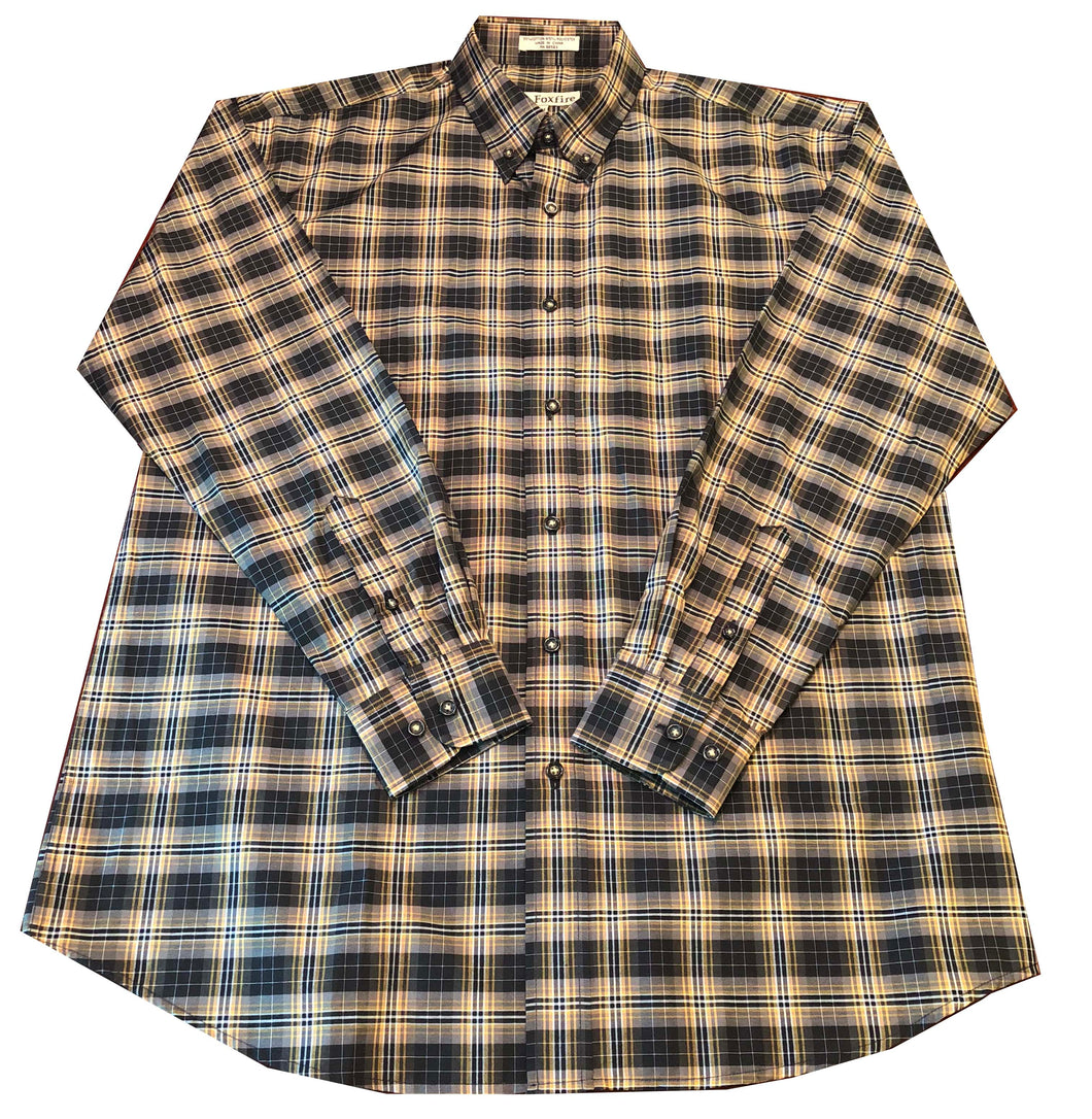 Long Sleeve Plaid - Black and Yellow