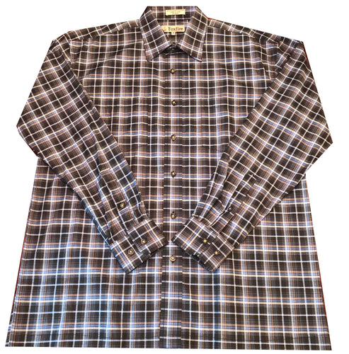 Long Sleeve Plaid - Navy