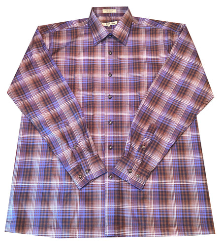 Long Sleeve Plaid - Purple