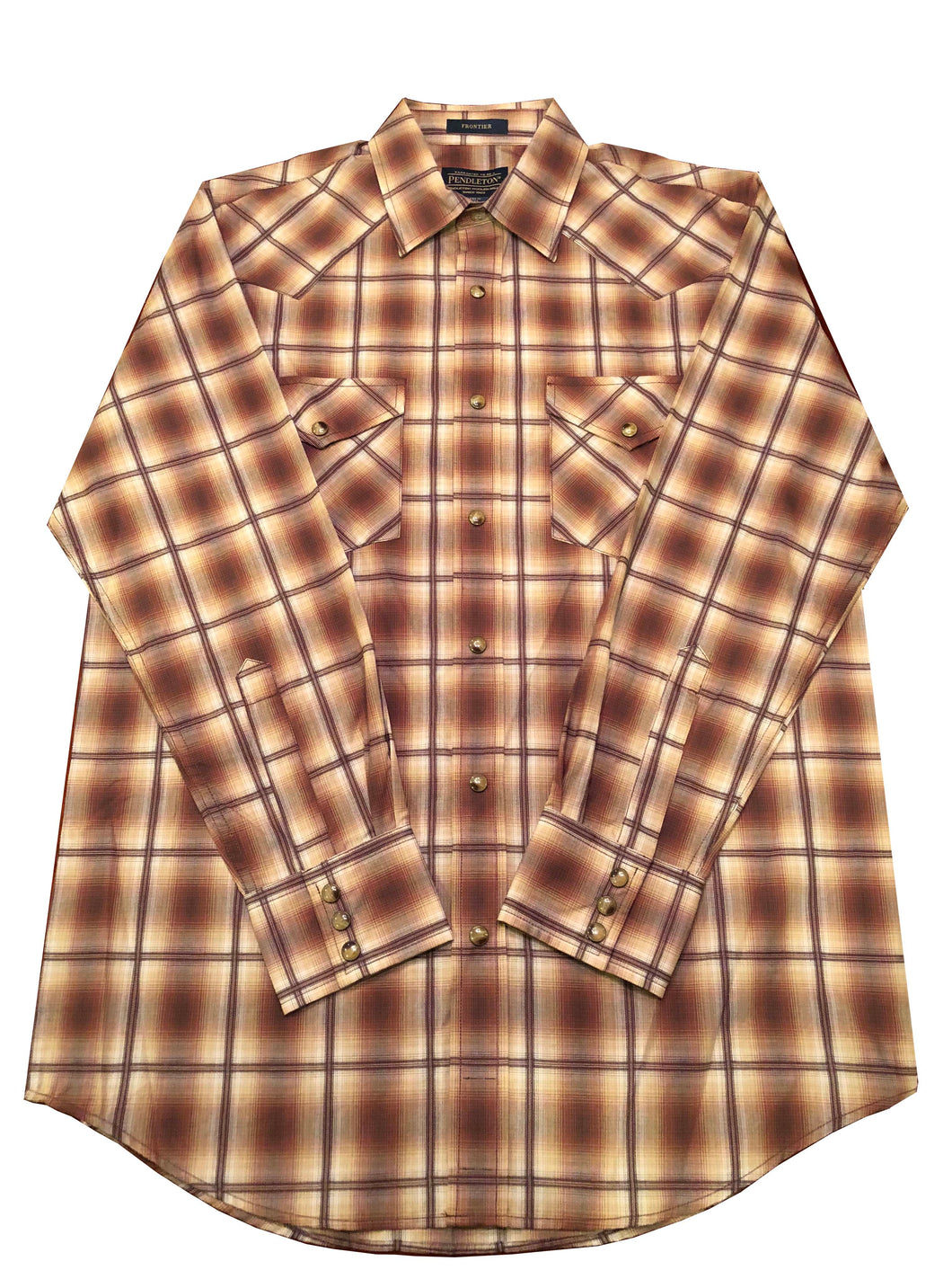 Pendleton Frontier Button-Up (Brown and Cream)