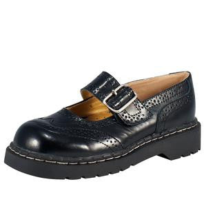 TUK Black Brogue Mary Jane
