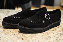 TUK Black Suede Buckle Pointed Creeper