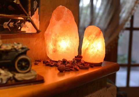 One Natural Himalayan Salt Lamp U0026 One USB Color Changing Himalayan Lamp